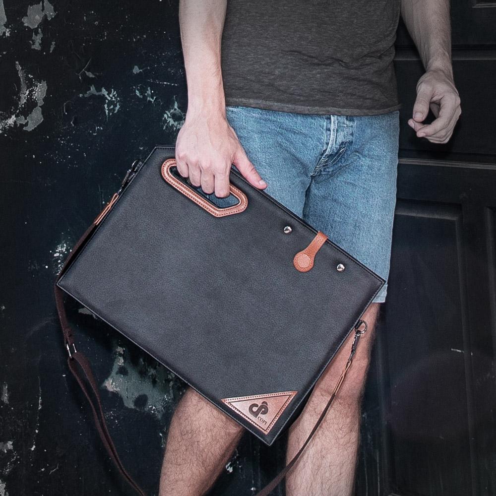 [코피]COPI - 남성 핸드 빅 크로스 클러치백