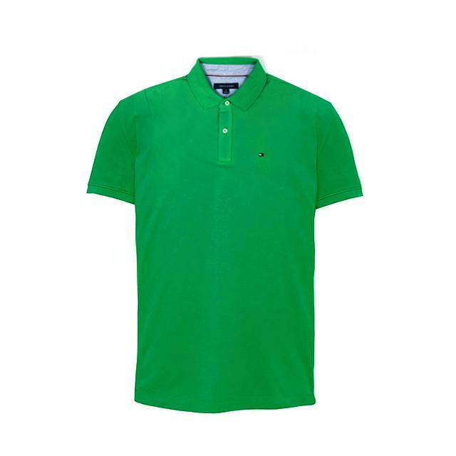 타미힐피거 카라 반팔티 티셔츠 C837855269 241 그린 남녀공용 정품 국내배송