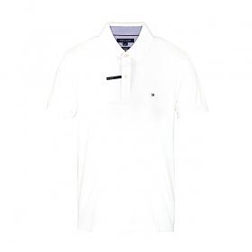 타미힐피거 카라 슬림핏 반팔티 티셔츠 C8178A6141 112 화이트 남녀공용