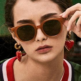 블루엘리펀트 - NATALIE amber-olivegreen 남자 여자 뿔테 호박 선글라스
