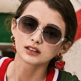 블루엘리펀트 - JUDY crystal-olivegradient 남자 여자 보잉 투명선글라스