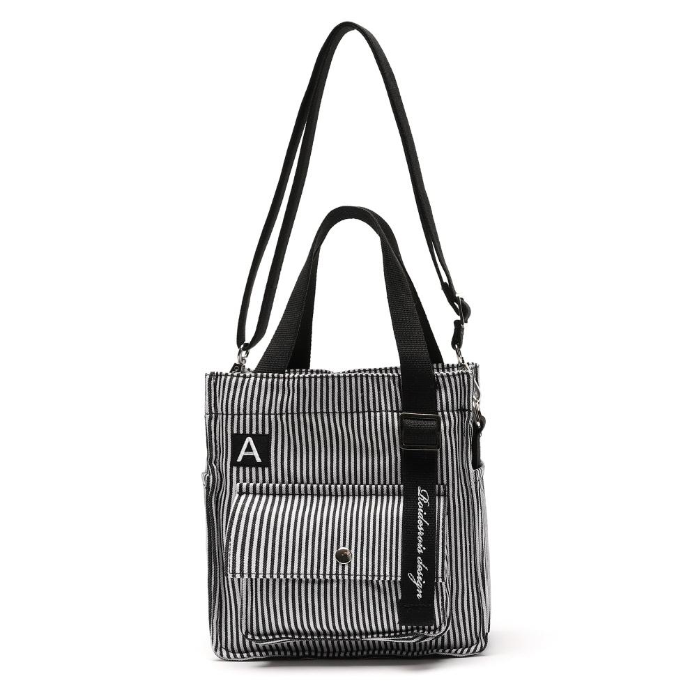 [로아드로아X어나더프레임] MINI A LABEL CROSS BAG (STRIPE) 미니 크로스백 토트백 가방