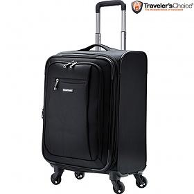 트래블러스초이스 코나드 블랙 21인치 소프트 캐리어 기내용 여행가방 확장형 여행용 가방 여행준비 아이템