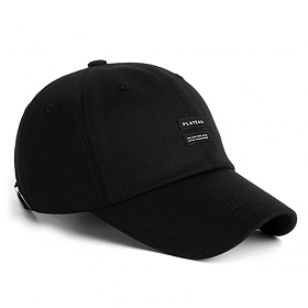 PLATEAU - 19 TWIN LABEL CAP_BLACK 볼캡 모자