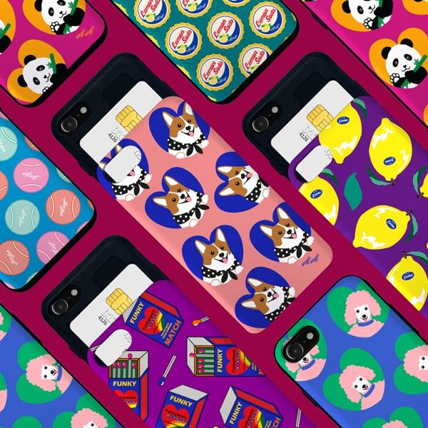 위글위글 - 메이커스 카드슬라이드 범퍼케이스 시즌1 주문제작 케이스 범퍼케이스 아이폰/갤럭시/LG 전기종 가능 케이스