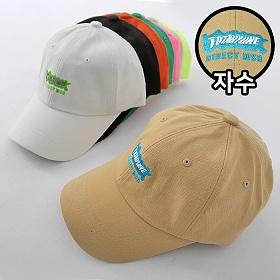 [탑보이] 남여공용 다이렉트 자수 볼캡 모자 (MIL001)