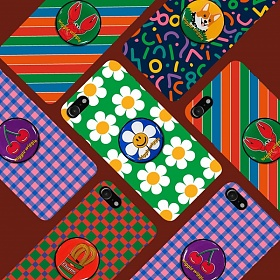 위글위글 - 메이커스 그립톡 하드케이스SET 시즌1 주문제작 그립톡 폰케이스 아이폰/갤럭시/LG 전기종 가능 케이스