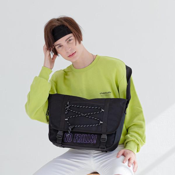 [로디스]LODIS - 노프릴 메신저백 블랙바이올렛