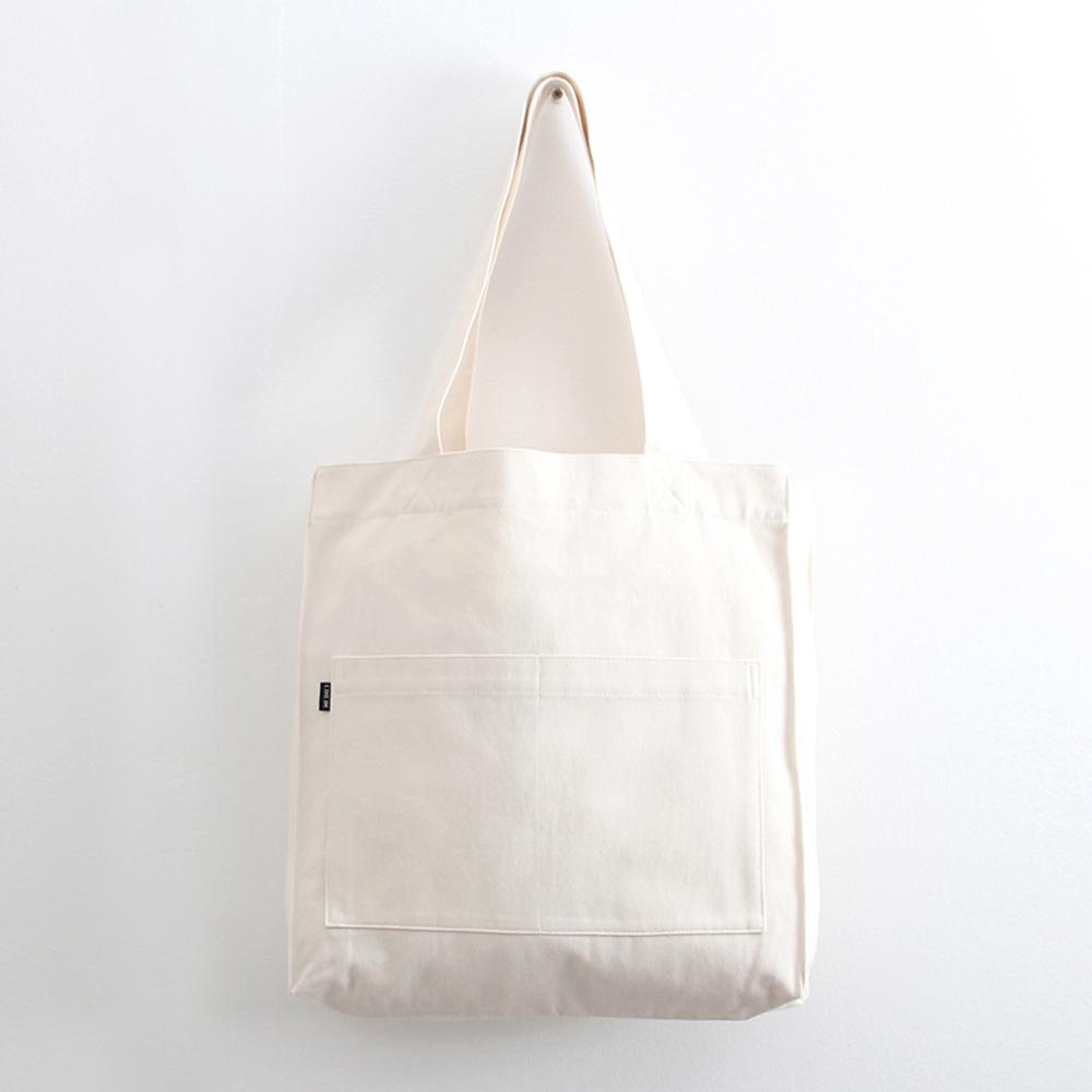 [오알오알]투포켓 심플 캔버스 숄더백 R51-001 아이보리 에코백