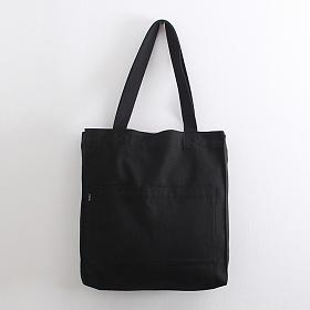 [오알오알]투포켓 심플 캔버스 숄더백 R51-003 블랙 에코백