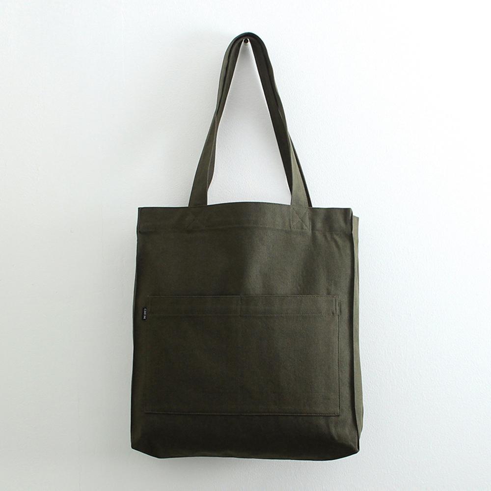 [오알오알]투포켓 심플 캔버스 숄더백 R51-005 다크 카키 에코백