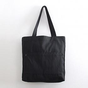 [오알오알]투포켓 심플 비건 레더 숄더백 R51-008 블랙 에코백