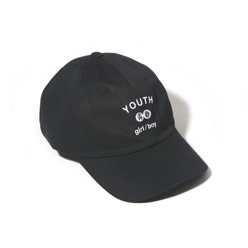 [벗딥]YOUTH CURVED CAP-BLACK 볼캡