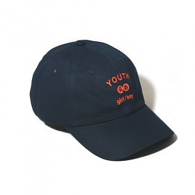 [벗딥]YOUTH CURVED CAP-NAVY 볼캡