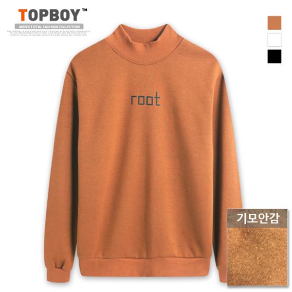 [탑보이] 루트 반폴라 기모 맨투맨 티셔츠 (MZ067)