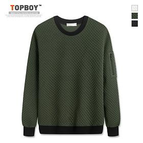 [탑보이] 다이아 소매지퍼 맨투맨 티셔츠 (RT511)