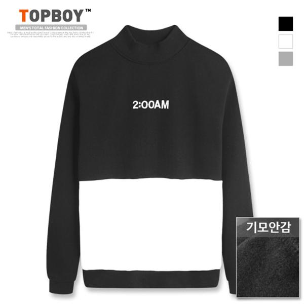 [탑보이] 2AM 반폴라 기모 맨투맨 티셔츠 (MZ068)