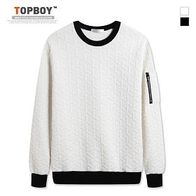 [탑보이] 와이 엠보 맨투맨 티셔츠 (RT506)
