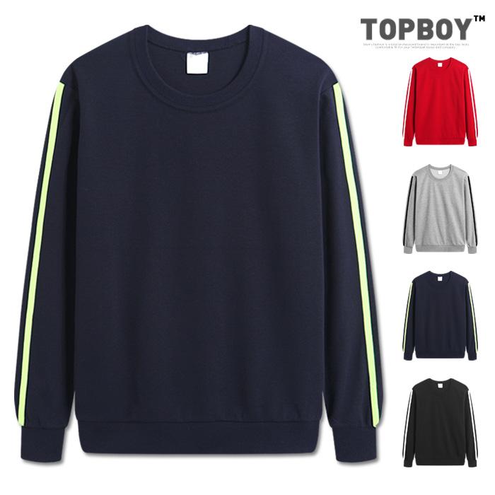 [탑보이] 아디오스 소매라인 맨투맨 티셔츠 (MZ125)