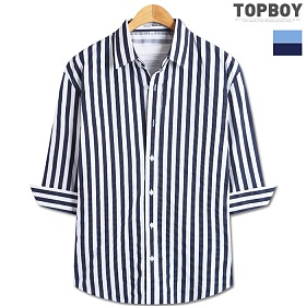 [탑보이] 스트라이프 10미리 7부셔츠 (DL498)