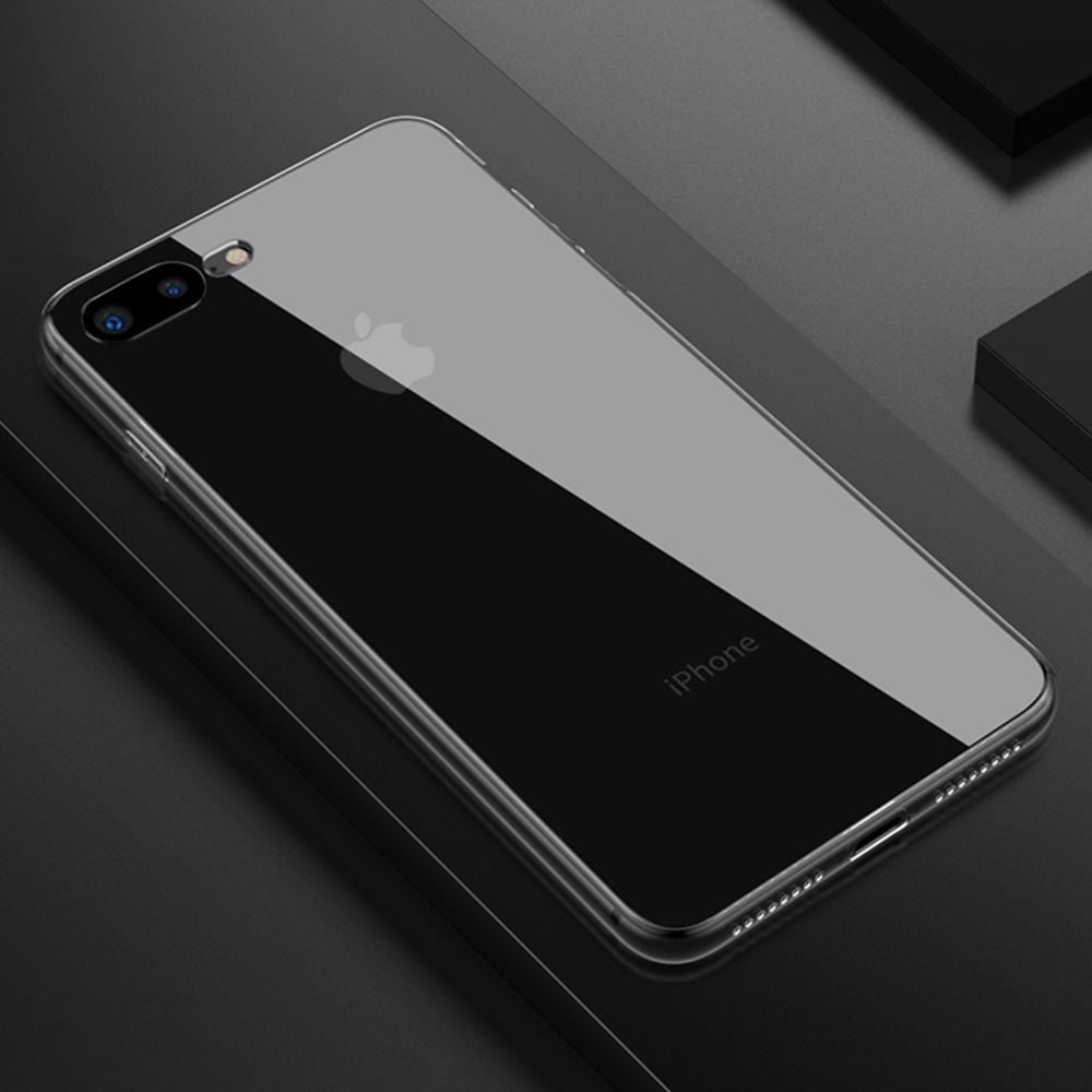 클렙튼 - 아이폰 7 8 플러스 투명 강화유리케이스 FP