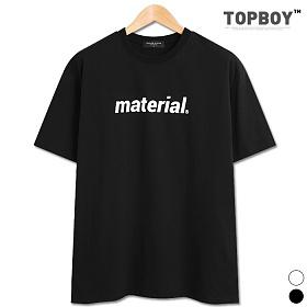 [탑보이] 메테리얼 프린팅 오버핏 반팔티 (SU622)