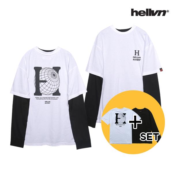 [세트 상품]헬븐 - BIG H 티셔츠 + 레이어드 쭉티