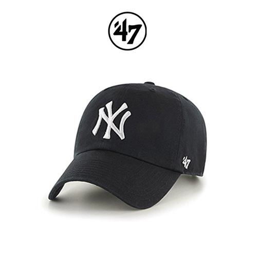 47브랜드 볼캡 모자 NY양키스 빅로고 블랙(BKD)