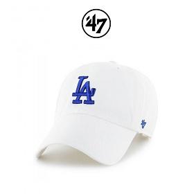 47브랜드 볼캡 모자 LA다저스 빅로고 화이트(WHA) 야구모자 정품 국내배송