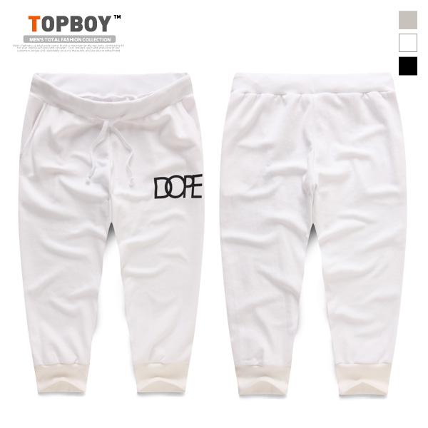 [탑보이] DOPE 7부 트레이닝 팬츠 (PR102)