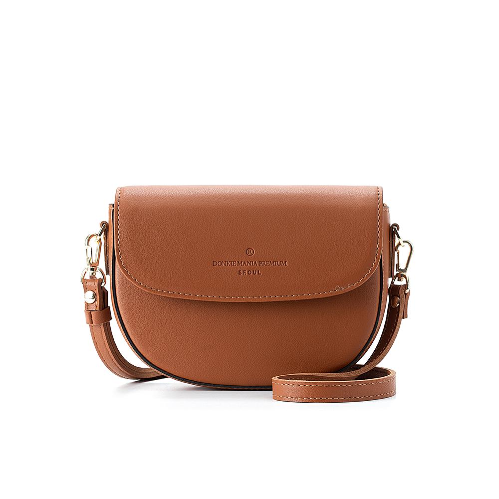 [돈키]DONKIE - 하프문 크로스백 (브라운) - D1017BR 여성가방