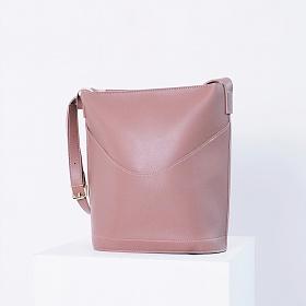 # 클리어런스 에스티빠레트 튤립숄더백 핑크 가죽 레더