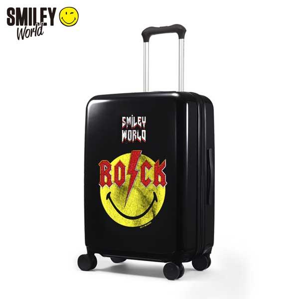 [스마일리] 캐리어 TSA락 확장형 2중안전지퍼 여행가방 수화물용 24인치 월드2 SW-L8224 (블랙)