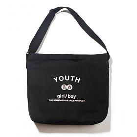 [벗딥]BUTDEEP - YOUTH 2WAY BAG-BLACK 투웨이 에코백 크로스백