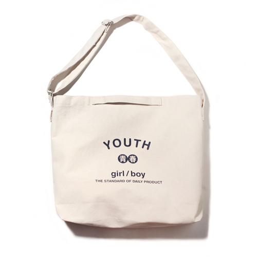 [벗딥]BUTDEEP - YOUTH 2WAY BAG-IVORY 투웨이 에코백 크로스백