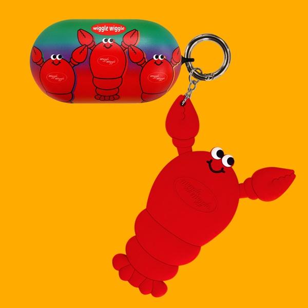 위글위글 - 갤럭시 버즈케이스&키링SET Lobster