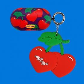 위글위글 - 갤럭시 버즈케이스&키링SET  Funky Cherry