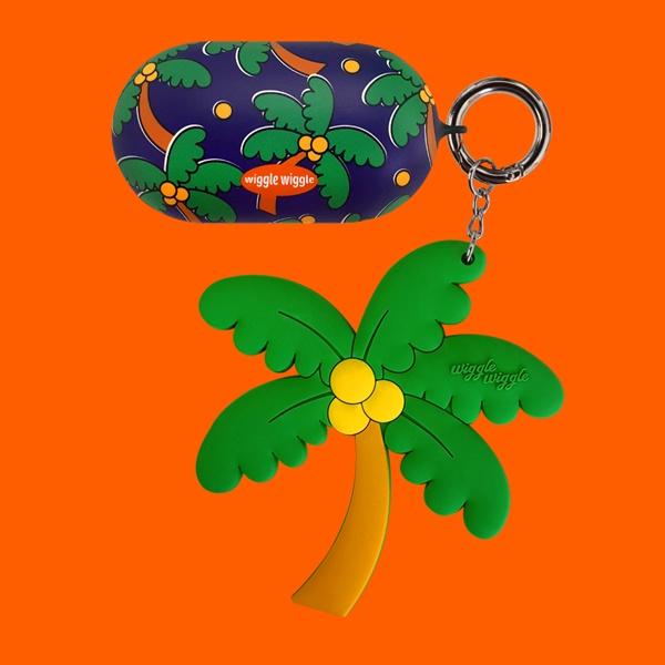 위글위글 - 갤럭시 버즈케이스&키링SET Funky Palm Tree