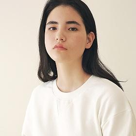 [엠오오] MOO - Minimal Sweatshirt White 맨투맨 크루넥 스��셔츠