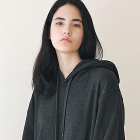 [엠오오] MOO - Minimal Hood Dark gray 후드 후디