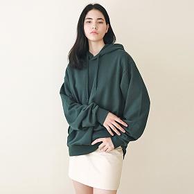 [엠오오] MOO - Minimal Hood Deep green 후드 후디