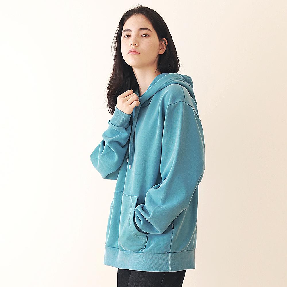 [엠오오] MOO - Minimal Pigment Hood Bluish green 후드 후디