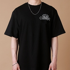 [크로스커렌트] CROSSCURRENT - CCT Mountain Short Sleeve - BLACK 반팔티셔츠