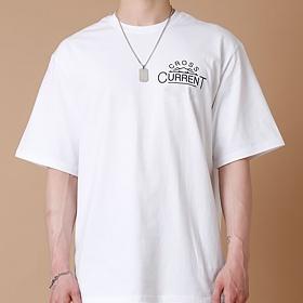 [크로스커렌트] CROSSCURRENT - CCT Mountain Short Sleeve - WHITE 반팔티셔츠