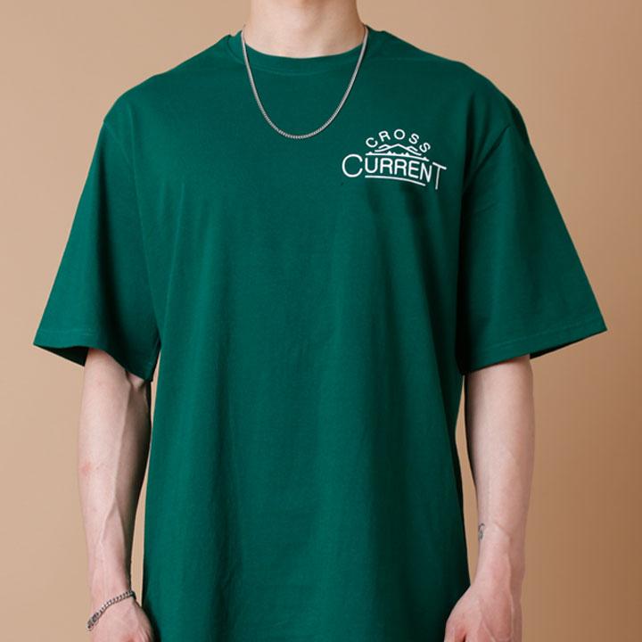 [크로스커렌트] CROSSCURRENT - CCT Mountain Short Sleeve - GREEN 반팔티셔츠