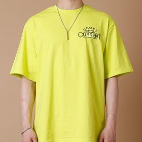 [크로스커렌트] CROSSCURRENT - CCT Mountain Short Sleeve - LIME 반팔티셔츠