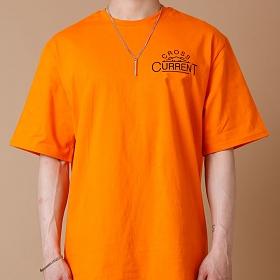 [크로스커렌트] CROSSCURRENT - CCT Mountain Short Sleeve - ORANGE 반팔티셔츠