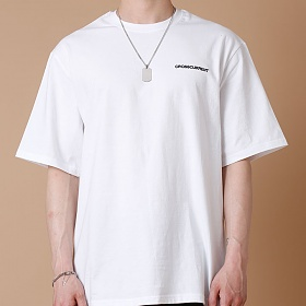 [크로스커렌트] CROSSCURRENT - CCT Small Logo Short Sleeve - WHITE 반팔티셔츠
