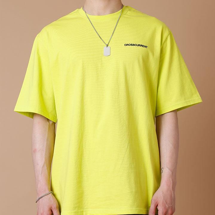 [크로스커렌트] CROSSCURRENT - CCT Small Logo Short Sleeve - LIME 반팔티셔츠