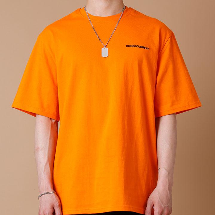 [크로스커렌트] CROSSCURRENT - CCT Small Logo Short Sleeve - ORANGE 반팔티셔츠